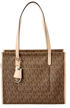 MICHAEL Michael Kors Darien Signature Medium Tote. - BROWN - STYLE