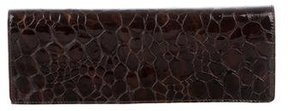Stuart Weitzman Embossed Patent Leather Clutch