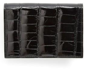 Boconi Men's Alligator Card Case - Black