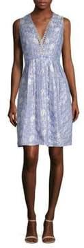Elie Tahari Jacquelle Metallic Dress