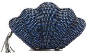 Kayu Jane Clam Clutch In Straw Blue