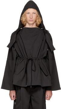 Craig Green Black Workwear Slash Neck Jacket