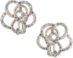 FANTASIA CZ 18k Gold-Plated Flower Stud Earrings