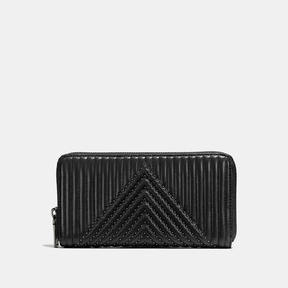 COACH Coach Accordion Zip Wallet With Quilting And Rivets - BLACK COPPER/BLACK - STYLE