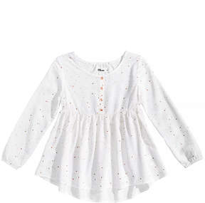 Epic Threads Star-Print Babydoll Top, Little Girls, Created for Macy's