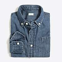 J.Crew Factory Boys' long-sleeve chambray shirt