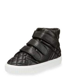 Burberry Sturrock Quilted Leather High-Top Sneaker, Youth