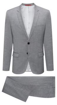 HUGO Boss Italian Wool Suit, Extra-Slim Fit Arti/Hesten 36R Open Grey