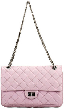 One Kings Lane Vintage Chanel Pink Reissue Medium Double Flap - Vintage Lux