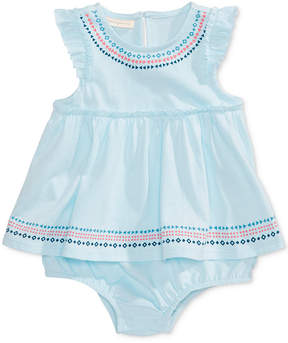 First Impressions Geo-Print Cotton Skirted Sunsuit, Baby Girls (0-24 months), Created for Macy's