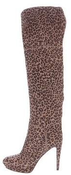 Sergio Rossi Leopard Printed Over-The-Knee Boots