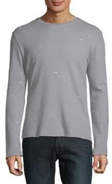 ATM Anthony Thomas Melillo Distressed Double Face Sweatshirt