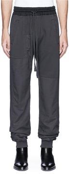 Haider Ackermann Herringbone outseam jogging pants