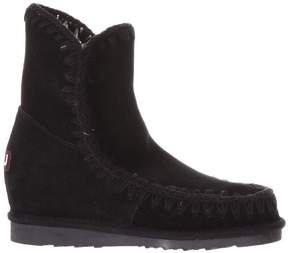 Mou Black Suede Eskimo Iw Summer Ankle Boots