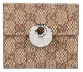 Gucci GG Compact Wallet - BROWN - STYLE