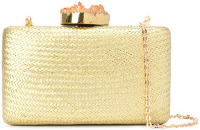 Kayu basket weave clutch bag