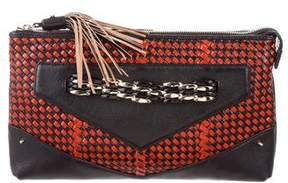 Rebecca Minkoff Woven Leather Clutch - BLACK - STYLE