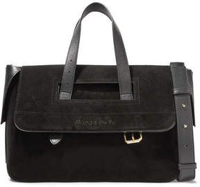 J.W.Anderson Tool Leather-trimmed Suede Tote - Black