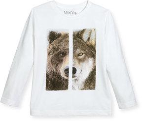 Mayoral Wolf & Bear Long-Sleeve T-Shirt, Size 3-7