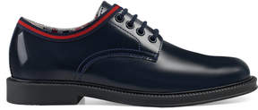 Gucci Children's leather shoe with Web