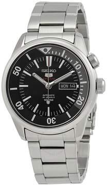 Seiko Open Box Series 5 Automatic Black Dial Men's Watch