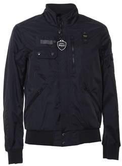 Blauer Men's Blue Polyamide Outerwear Jacket.