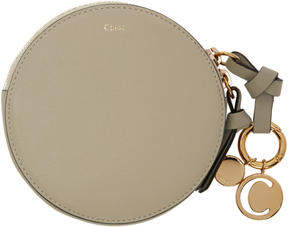 Chloé Grey Small Round Coin Pouch