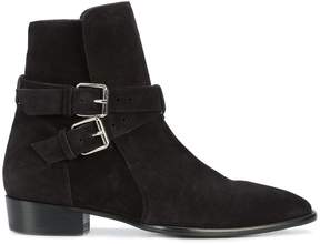 Amiri buckle detail ankle boots