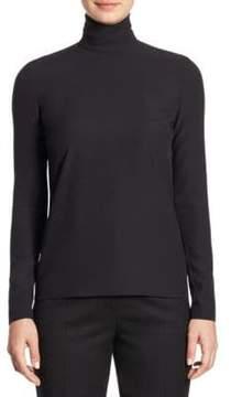 Sara Battaglia Turtleneck Wool Shirt