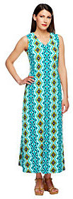 Denim & Co. As Is Regular Sleeveless V-Neck Print Maxi Dress