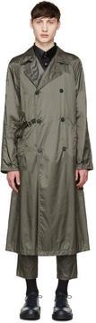 Jil Sander Grey Nylon Trench Coat