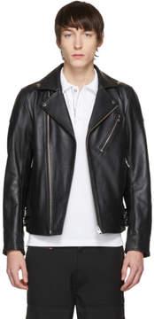Diesel Black Leather L-Kramps Biker Jacket