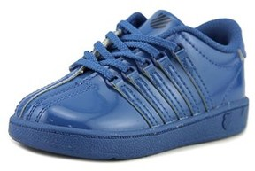 K-Swiss Classic Toddler Round Toe Synthetic Blue Sneakers.