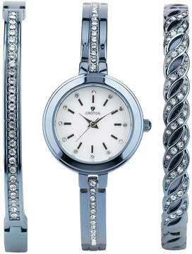 Croton N/A Mens Silver Tone Bracelet Watch-Cx328038ssrd