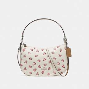 COACH COACH CHELSEA CROSSBODY WITH FLORAL BLOOM PRINT - CHALK MULTI/SILVER
