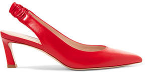 Stuart Weitzman Hayday Leather Slingback Pumps - Red