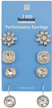 Capezio Silvertone Performance Earrings - Set of Four Pairs