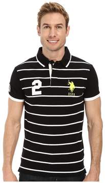 U.S. Polo Assn. Slim Fit Stripe and Solid Pique Polo Men's Clothing