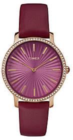 Timex Ladies' Metropolitan Starlight Rosetone &Burgundy Watch