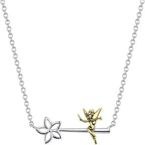 Disney Two-Tone 10K Gold and Sterling Silver Tinker Bell Wand Necklace