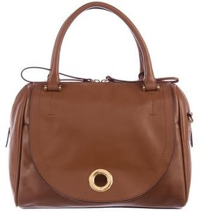 Halston Heritage Smooth Leather Satchel