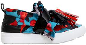 MSGM 30mm Neoprene & Patent Leather Sneakers