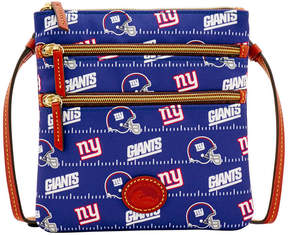 Dooney & Bourke New York Giants Nylon Triple Zip Crossbody - BLUE - STYLE