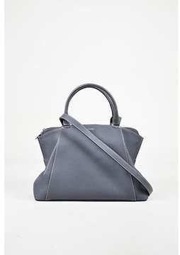 Cartier Pre-owned Blue taurillon Leather small C De  Satchel Bag.
