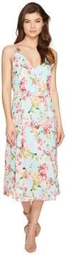 Adelyn Rae Valerie Woven Printed Maxi Dress Women's Dress