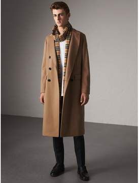 Burberry Double-breasted Extra Long Wool Cashmere Coat