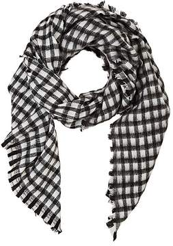 Barneys New York WOMEN'S BUFFALO-CHECKED WOVEN SCARF
