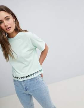 Brave Soul T Shirt with Ring Detail at Hem