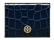 Tory Burch Parker Embossed Foldable Card Case - TORY NAVY CROC - STYLE