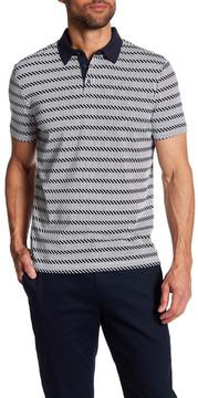 Perry Ellis Short Sleeve Geo-Stripe Polo